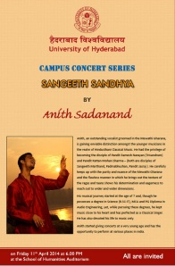 Anith Sadanand's Performance at Hyderabad University